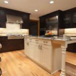 Kitchen remodeling in Naperville, IL. Dark shaker kitchen design for the home.