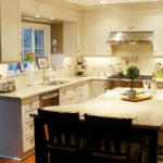 Kitchen remodeling in Naperville, IL. Warm shaker kitchen layout in home.
