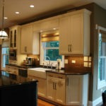 Kitchen appliances are reorganized for prep area expansion. Kitchen remodeling in Naperville, IL