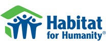 blue and green habitat for humanity logo on the kitchen master